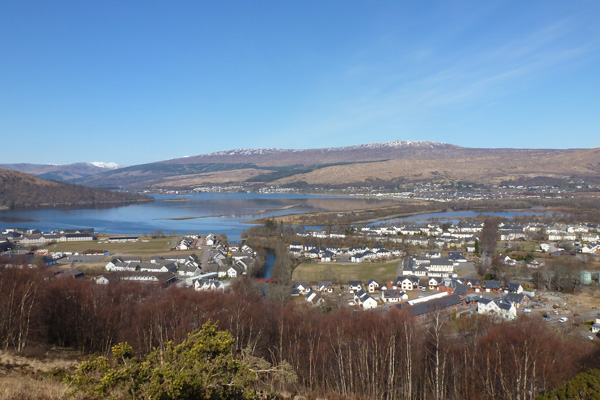 Fabulous views of Loch Linnhe, Fort Willian and its environs