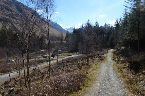 The path passes by the Braveheart Car Park (an alternative starting point)