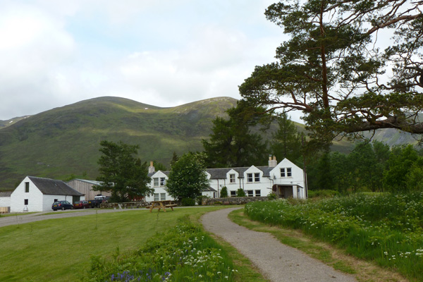 Aberarder farmhouse with information point in Creag Meagaidh National Nature Reserve
