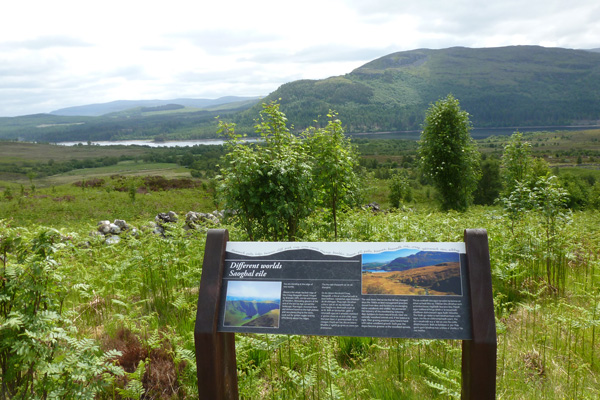 The viewpoint on the Alt Dubh Trail
