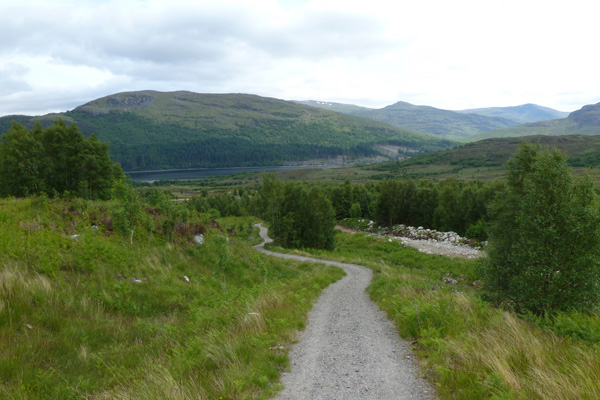 Returining from the viewpoint on the Alt Dubh Trail
