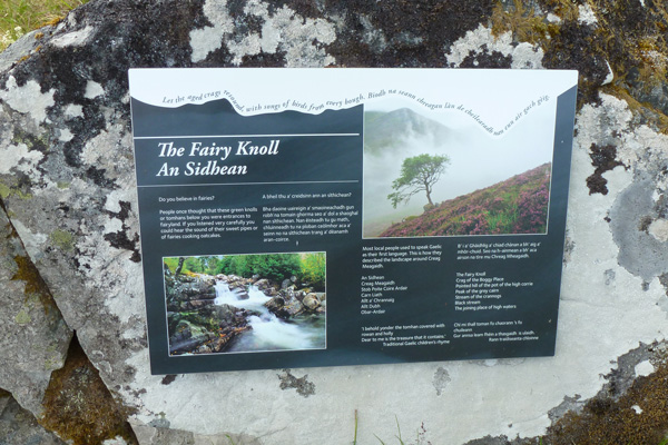 Interpretation board on The Fairy Knoll