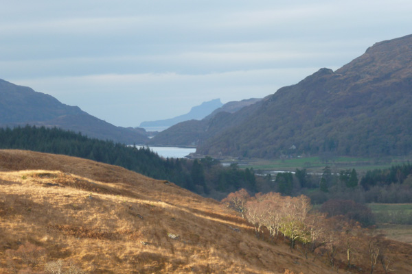 Loch Moidart from the hills above Dalilea