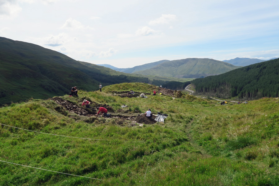 Dun Deardail - some excavation work was carreid out in August 2015