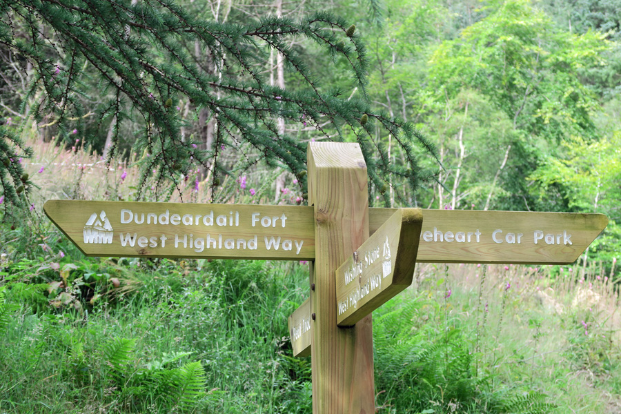 Take the path to Dun Deardail - part of The West Highland Way