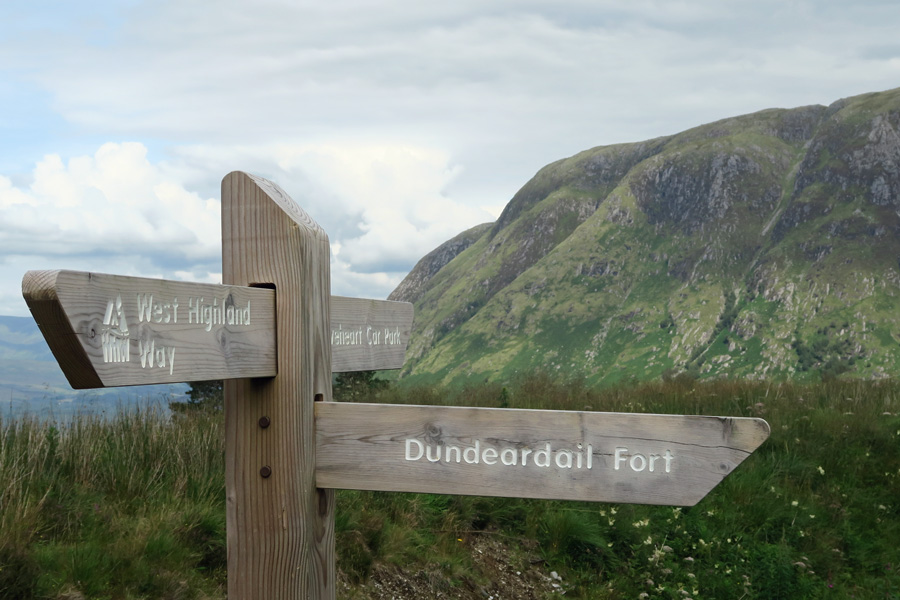 Continue on the track to Dun Deardail
