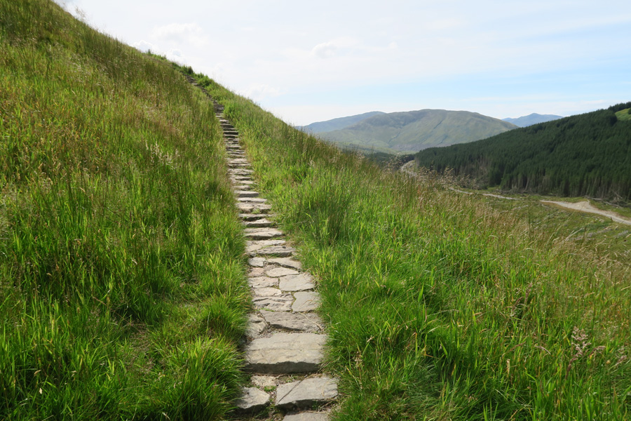 The path to Dun Deardail