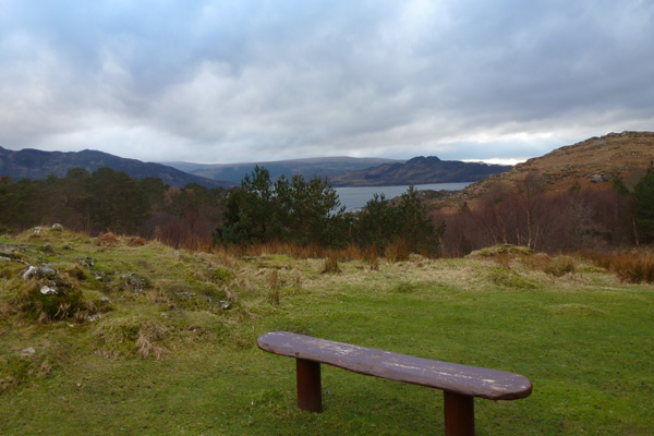 the bench near the car park  at Dun Ghallain