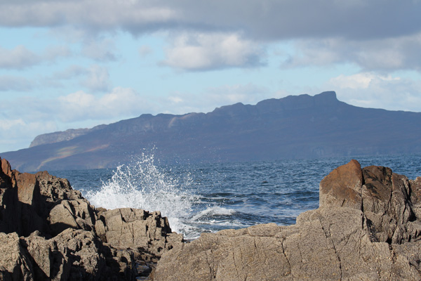 Looking out towards Eigg from Port Eigin-aig