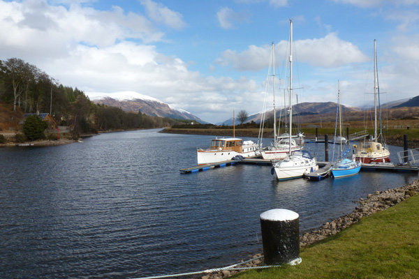 British Waterways Moorings at Gairlochy
