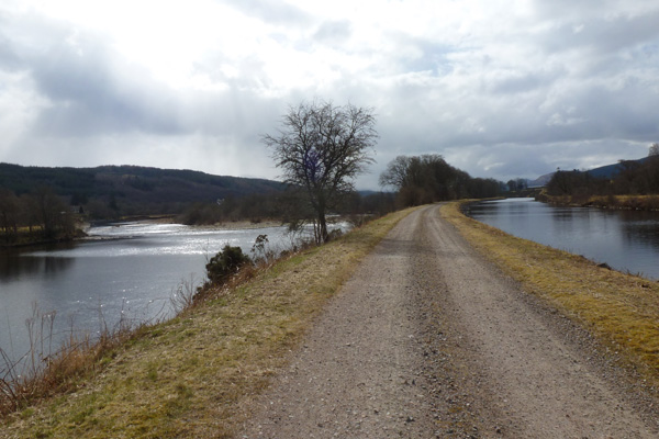 Towpath along the Caledonian Canal
