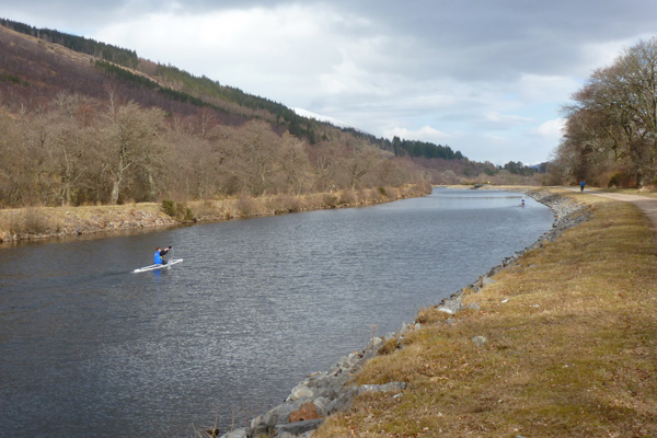 Canoeing on the Caledonian Canal
