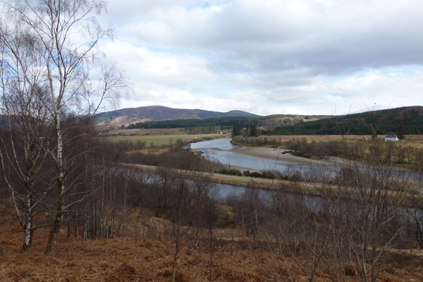 View of the Caledonian Canal and River Lochy from road
