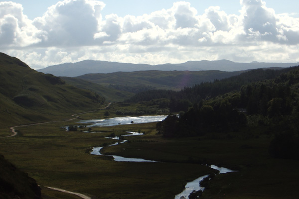Looking down along Glen Moidart from The Reservoir.