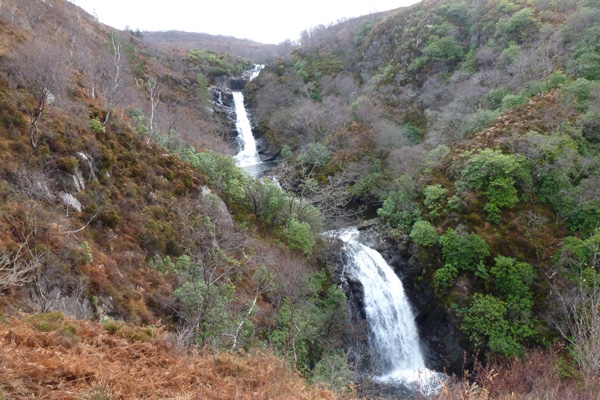 View of the Inchree water falls