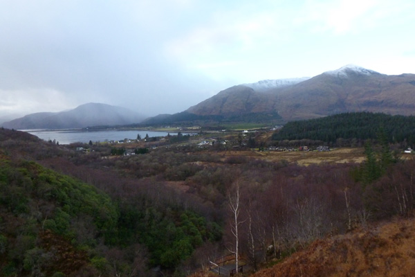 Views of Loch Linnhe and the hills of Ardgour
