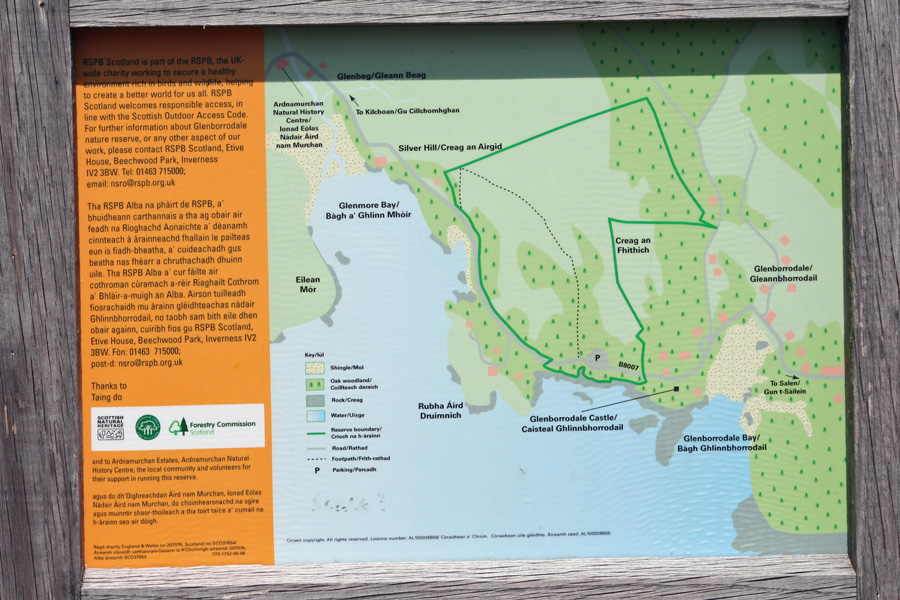 RSPB Glenborrodale interpretation board
