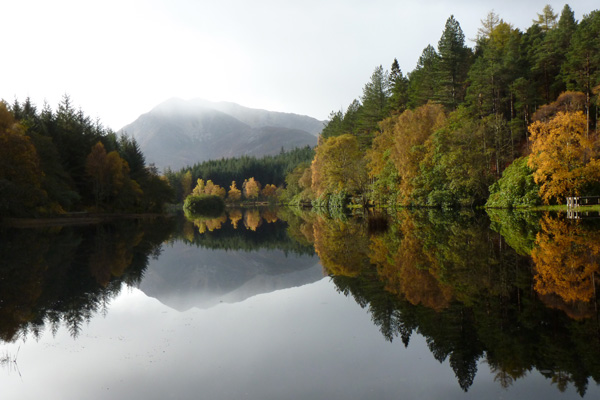 Reflections on Glencoe Lochan