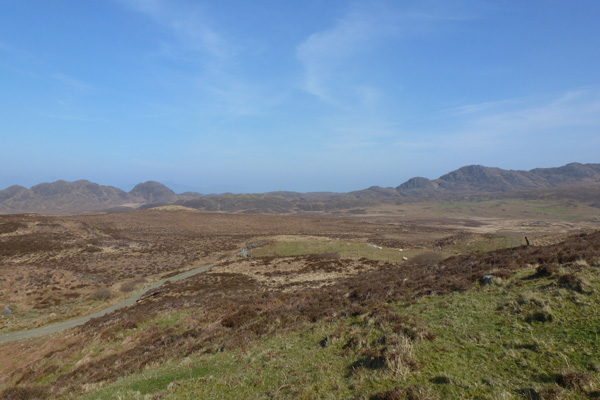 The track to the deserted village of Glendrian