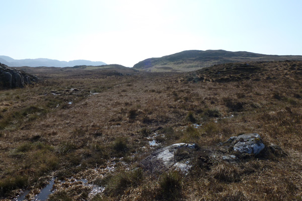 The path is a little indistinct and boggy between Glendrian village and Glen Drian