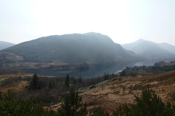 The walk has great views over Loch Shiel