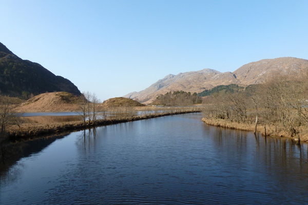 The River Callop as it joins Loch Shiel
