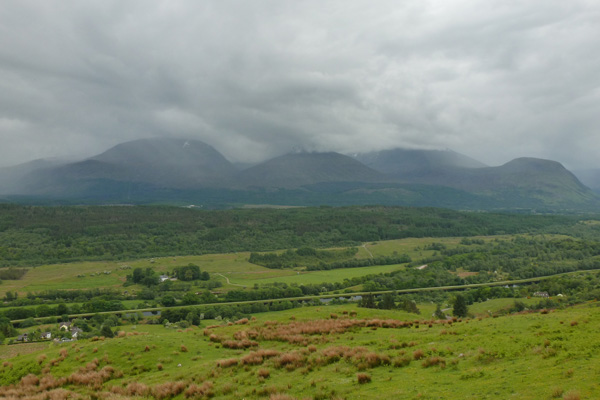 Views over the Caledonian Canal to the Nevis Range