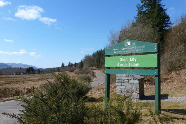 Glen Loy Forestry Commission car park