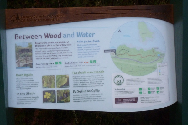 the forestry commission information board