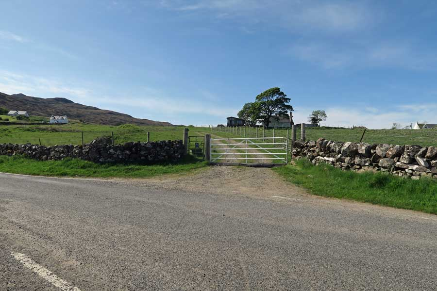 The gateway to Grianan croft