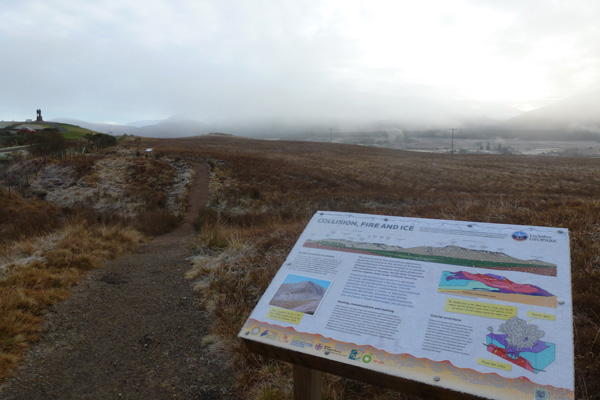 An interpretation board near the start of the walk