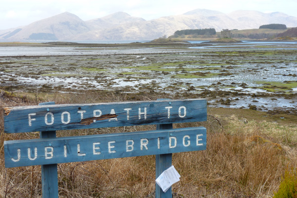 Start of the walk to Jubilee Bridge, Appin