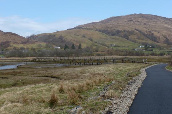 Tarmac path skirting the coastline