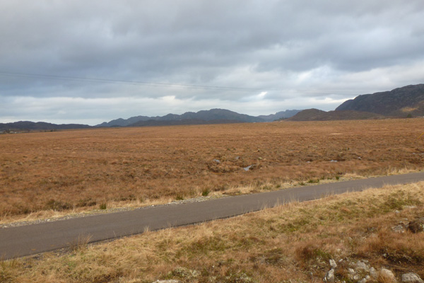 The road from Arivegaig over Kentra Moss