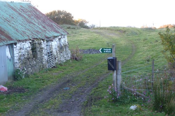 The start of the walk at village of Kilmory, Ardnamurchan peninsula