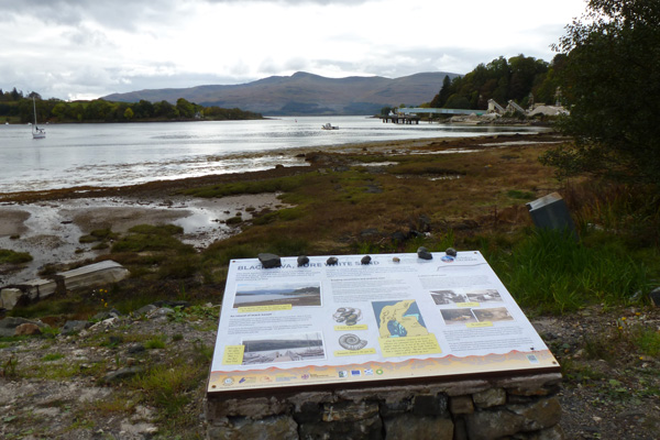 Interpretation board giving details of  the geology of Morvern