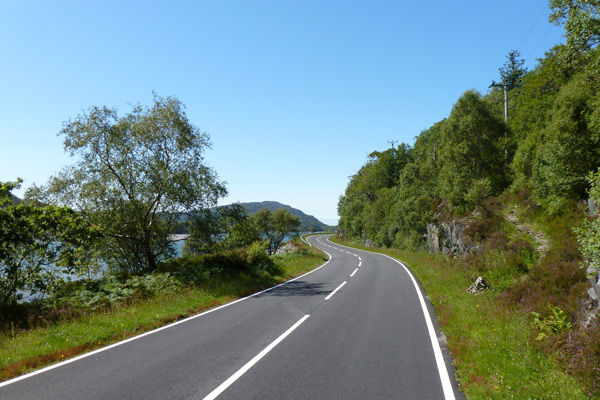 The old and the new roads