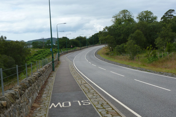 The new layby on the A830 - a convenient place to park