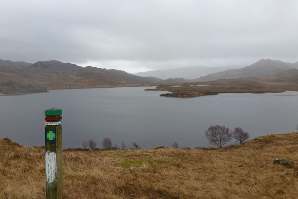 Loch an Nostarie - there is an alternate path by the loch edge