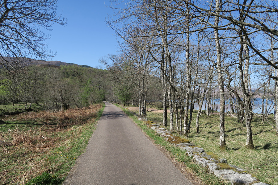 The tarmac track along the eastern shores of Loch Arkaig