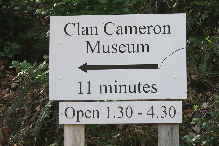 The Clan Cameron museum is a short detour away