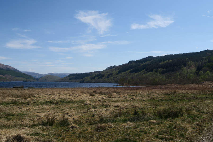 Looking back over Loch Arkaig