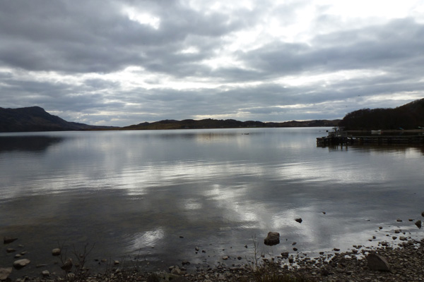Loch Morar at the start of the walk