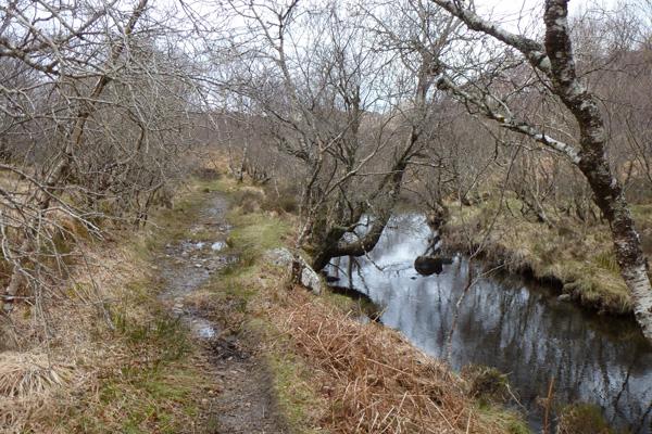 The path follows Allt an Loin near the start