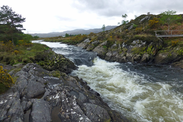 The rapids at the end of The River Shiel