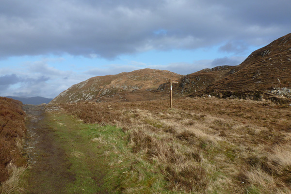 The Mallaig Circular Walk joins up with the walk to Loch an Nostarie
