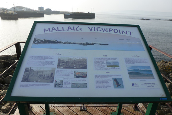 One of the interpretation boards at the Mallaig Viewpoint
