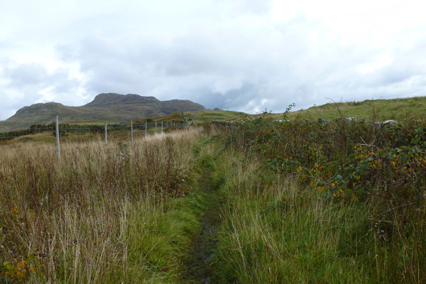 Path to Castle with views of Ben Hiant