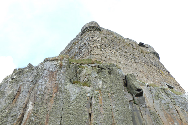 Mingary castle perched on granophyre sill