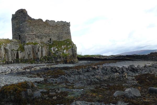 Castle seen from shingle beach